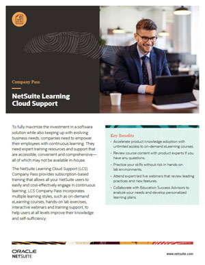 NetSuite Learning Cloud Support Company Pass